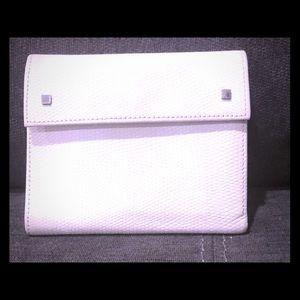Banana Republic white leather wallet